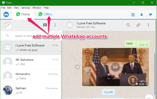 chattare dal pc con whatsapp