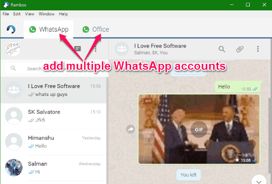 whatsapp per desktop