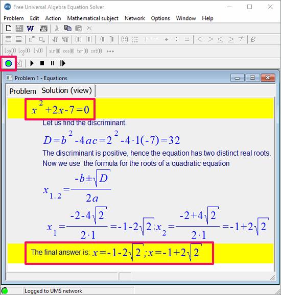 risolvere problemi di algebra