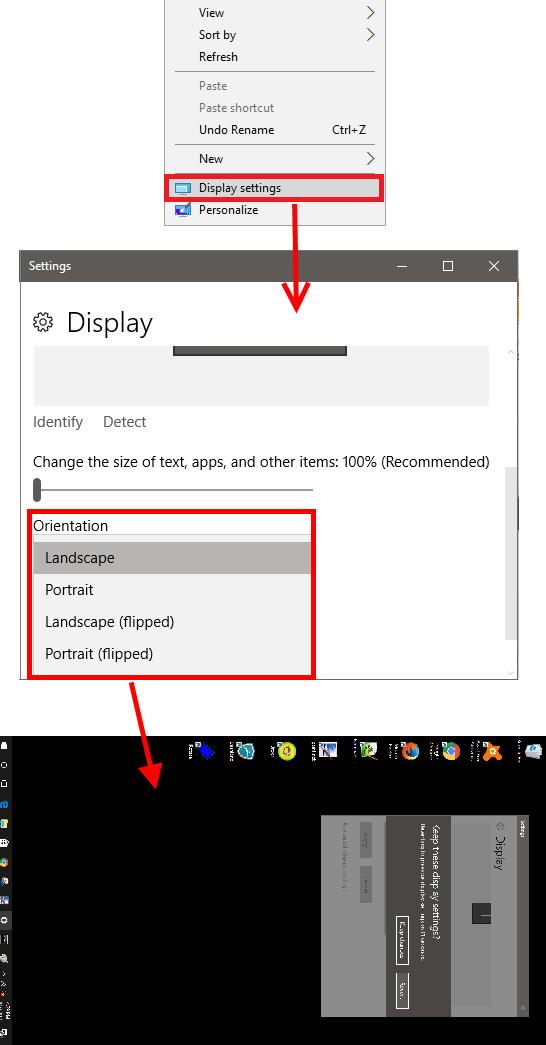 Metodi per Ruotare lo Schermo con Windows