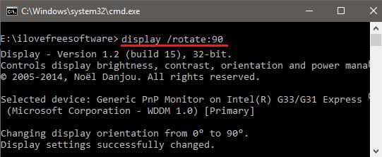 Metodi per Ruotare lo Schermo con Windows - Prompt dei comandi
