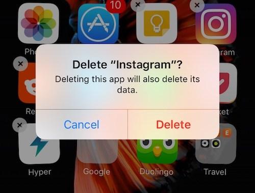 Reinstallare app e cancellare la cahce