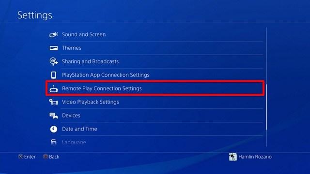 Remote Play Impostazioni e configurazioni