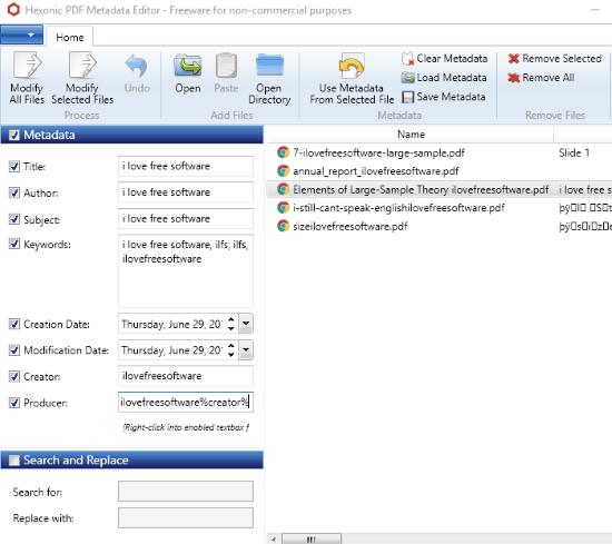 Metadata Editor