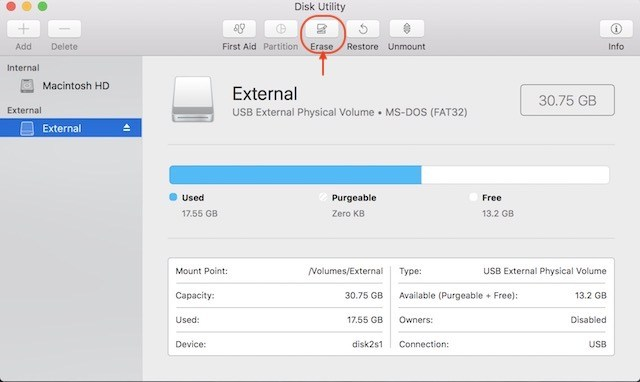 Proteggere con password con Disk Utility