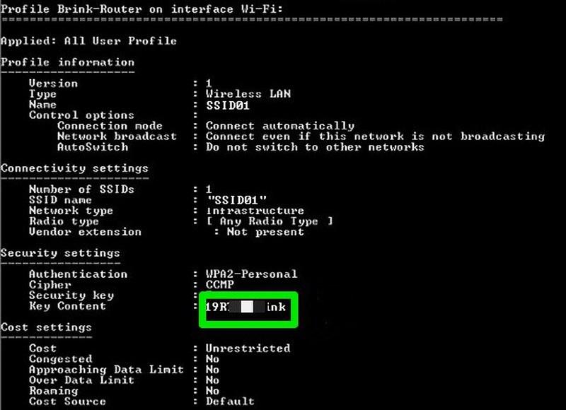 Trovare password WiFi con il Prompt su windows