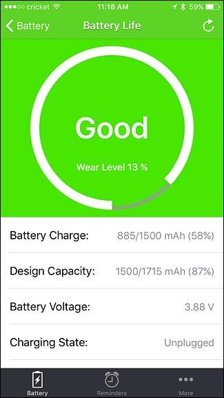 app per il controllo della batteria