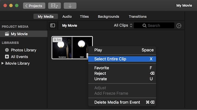 Eliminare audio da video su Mac