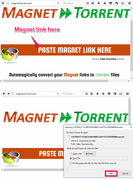 Magnet2Torrent by Calpe Consulting