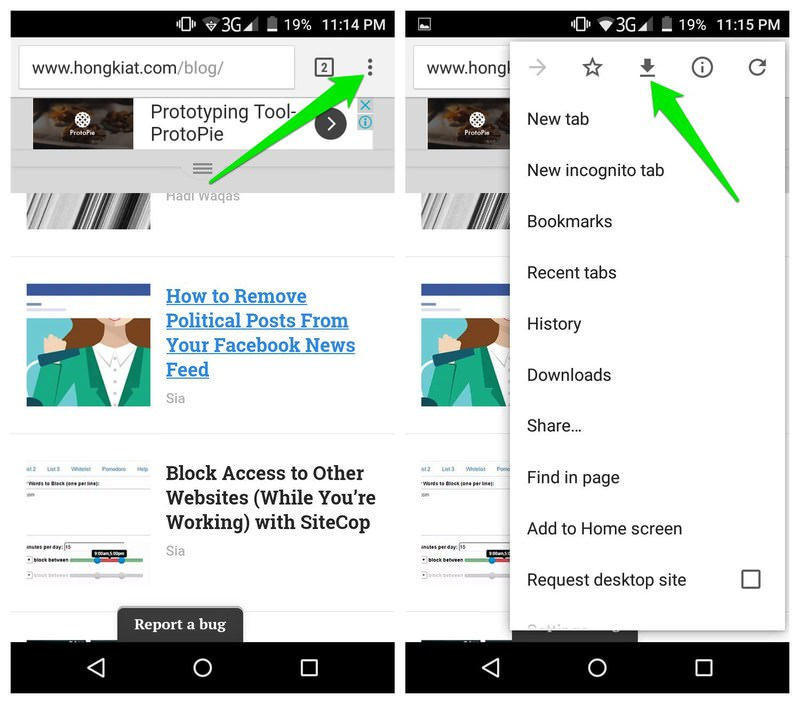 scaricare pagine web su smartphone