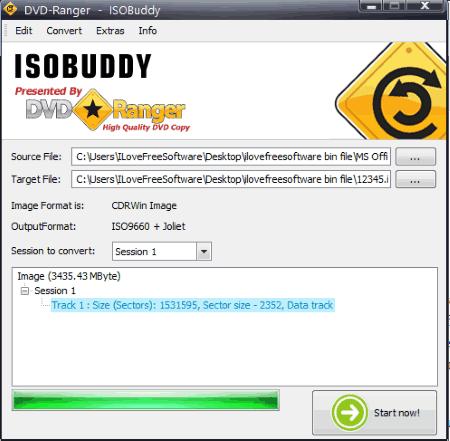 software per la conversione di file ISO