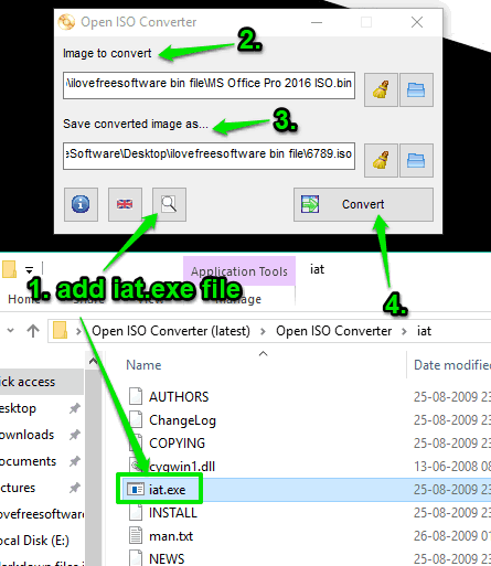 Open ISO Converter software