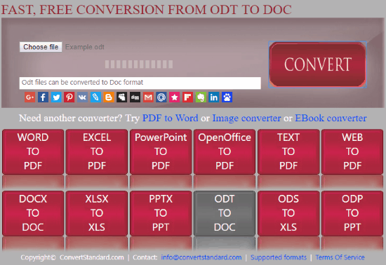 Convertire File ODT in DOC