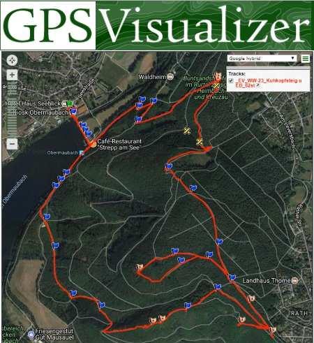 visualizzazione del percorso