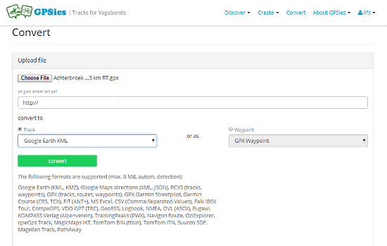 convertire un file PGX in KML online
