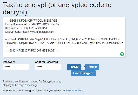 decriptare testo online