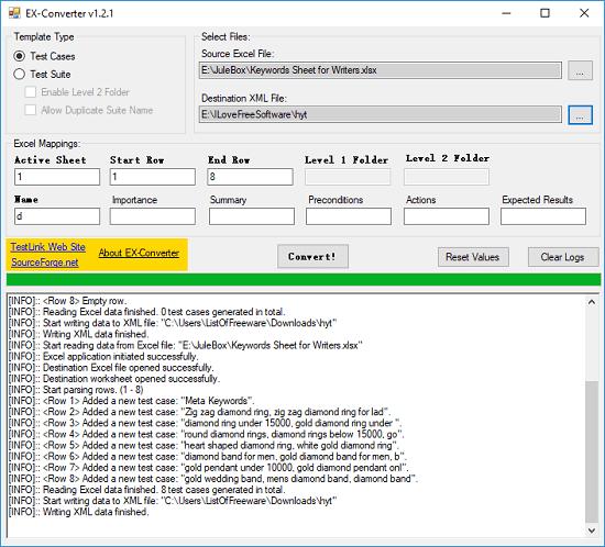 excel converter in xml