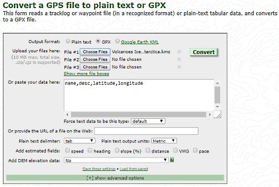 da gps a gpx