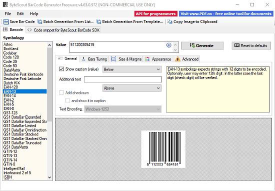 creare barcode con windows