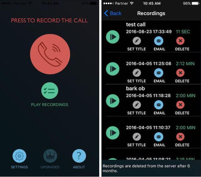 recorder call