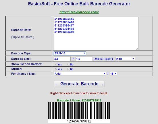 5 siti per generare barcode online for Creatore di progetti online gratuito