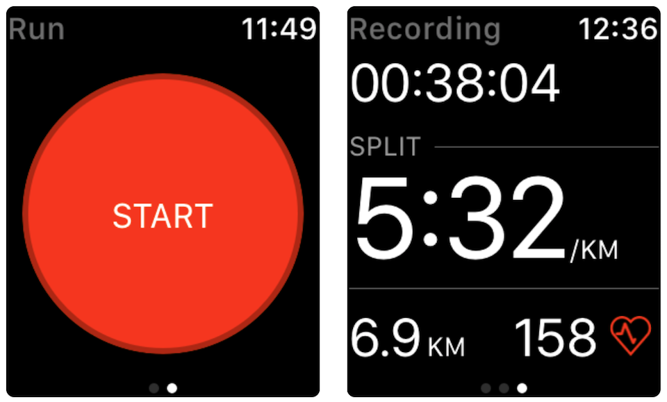 sport con apple watch