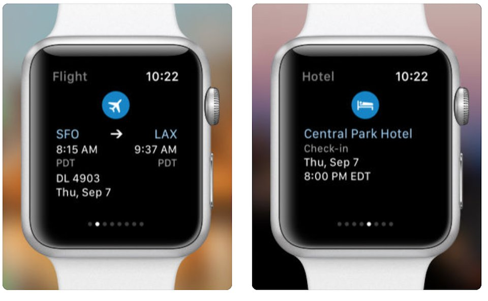 viaggi con apple watch