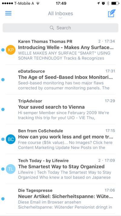 lettore di email