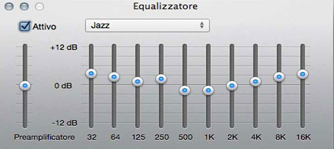 equalizzatore audio per pc