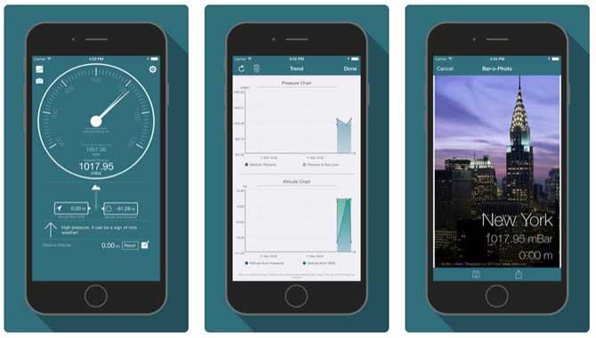 App Bar-o Meter Altimeter Barometer
