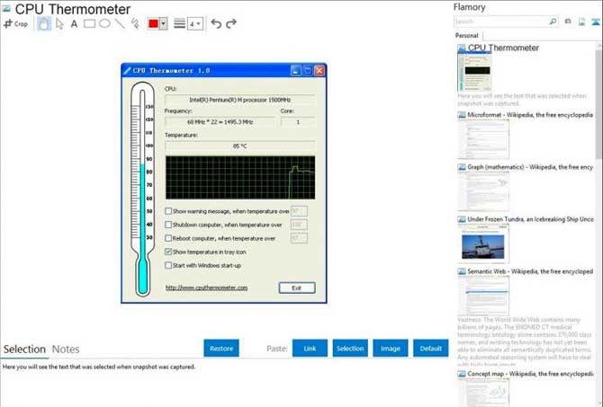 Software CPU Thermometer