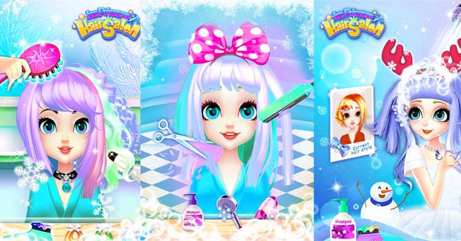 Hair salon games Ice Princess