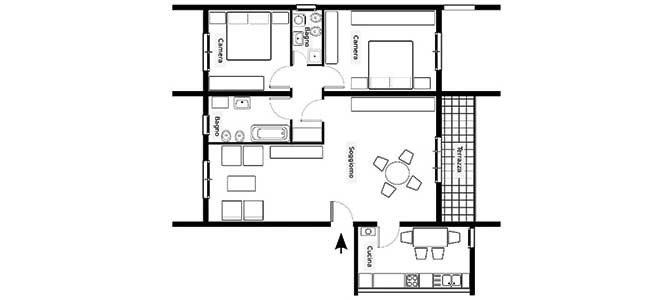Creare planimetrie di case online e gratis for Software per planimetrie
