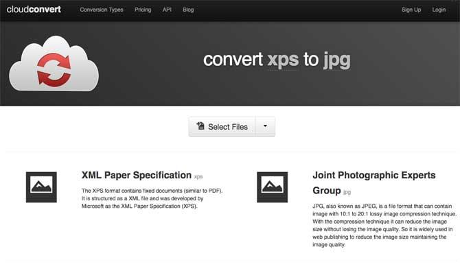 convert xps to jpg