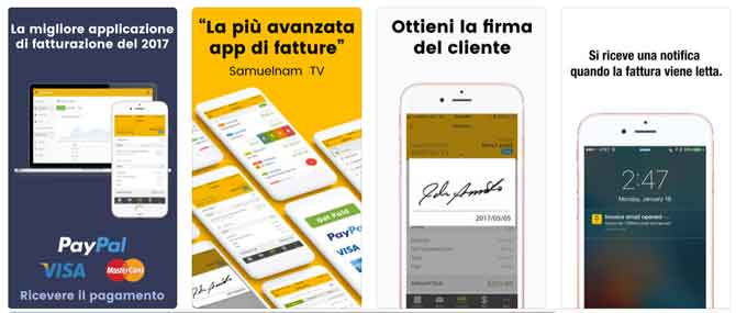 App iPhone Fattura e preventivo