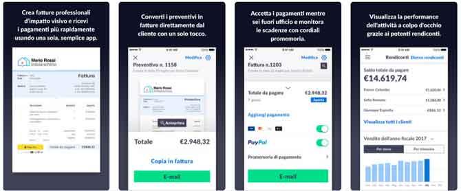 App iPhone Fattrazione invoice2go