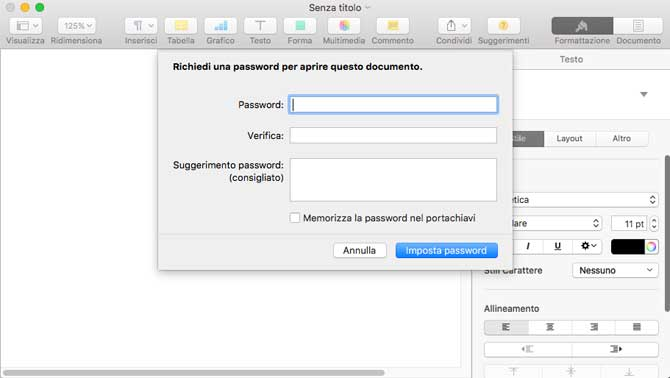 Proteggere un file Word con password - CCM