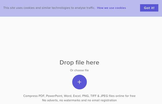 wecompress per file TIFF