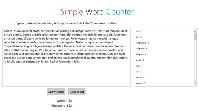 App Simple Word Counter