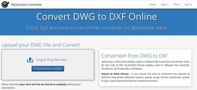Convertire File DWG in DXF